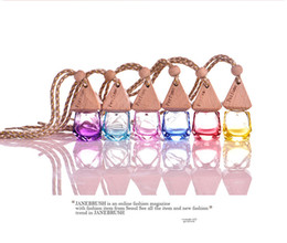 Wholesale Oil Freshener - Colorful Car Scenter Car Air Freshener Decoration Essential Oil Perfume Empty Bottle High Quality Hang Rope Pandent Aromatherapy Diffuser