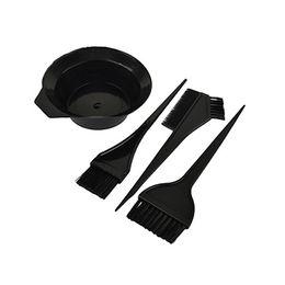 Wholesale Tint Brushes Wholesale - 4 Pcs Hairdressing Brushes Bowl Combo Salon Hair Color Kit Dye Hair Tint Tool Set LB