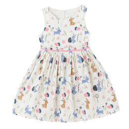 Wholesale Kids Western Dresses - Summer Cute Baby Girls Clothes Western Animal Printed Girls Dresses Bohemian Sleeveless Children Clothing Cotton Kids Dress Outfit