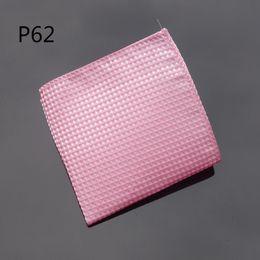 Wholesale Hot Pink Cravat - hot new Hankerchief Checked Pink Hanky Men Tie Jacquard Woven Pocket Square Fashion