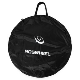 Wholesale Bicycle Carrying Bags - 1pc Portable Cycling Road Mountain Bicycle MTB Single Wheel Carrier Bag Bicycle Tyre Carrying Package Bags NEW +B