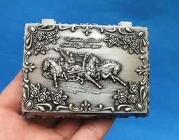 Wholesale Antique Carriage - Beautiful Small carved with Carriage Metal jewelry box