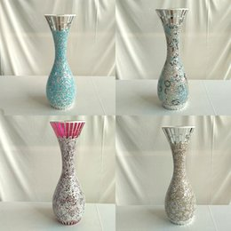 Wholesale Glass Vases Free Shipping - 1.88kg  pcs Glass Vases 15cm *43cm Home Furnishing decoration Hotel decoration european style free shipping