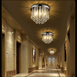 Wholesale amber surface - Mini Crystal Chandelier Light Fixture Small Clear Amber K9 Crystal Lustre Lamp Ceiling lamp for Aisle Stair Hallway corridor porch 110V 220V