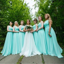 Wholesale Purple Dress 12 - Mint Green Long Chiffon A Line Sweetheart Pleated Bridesmaid Dress 2017 Cheap Bridesmaid Dresses Under 100