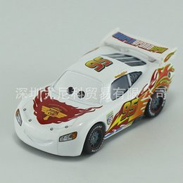 Wholesale Wholesale Police Toys For Kids - Cars 2 Original Pixar Cars 95 Lightning McQueen White PISTON CUP Police Cars Truck Metal Toy Car Model For Children Kid Gift