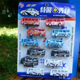 Wholesale Pull Back Motorcycle Toy - 12Pcs Lot Baby Toys Aircraft Bus Car Motorcycle Police Car Model Pull Back Car Model Set Kids Toys for Children Gifts 3 Types