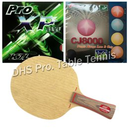 Wholesale Combo Table - Wholesale- Pro Table Tennis Combo Paddle Racket HRT 2091 with KTL Pro XP and Palio CJ8000 BIOTECH shakehand long handle FL