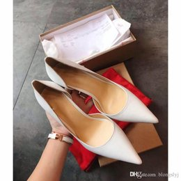 Wholesale Womens Dress Shoes Heels - Top Luxury Brand Womens Red Bottoms Heels Women's Spikes Flat Genuine Leather Christian Party Wedding Dress Casual Shoes