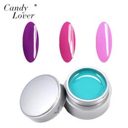Wholesale Nail Gel Solid Color - Wholesale- Candy Lover 3pcs lot Pure Color Nail Art UV Gel Solid Extension Manicure Set For Builder Polish Lamp Hot Sale UV Gel Varnish