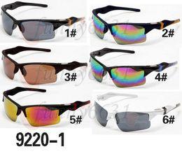 Wholesale factory big man - New Arrival Hot Sale Factory Price 6 colors big sunglasses sports cycling sunglasses fashion colour mirror Brand Sunglasses men FREE SHIP