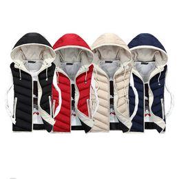 Wholesale Women S Velvet Jacket Coat - Fall-Lover Vest Men Winter Coat Plus Velvet Mens Vest Male Hooded Vests Men Women Cotton Padded Sleeveless Jacket Man Waistcoat
