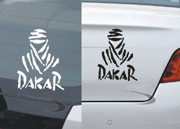 Wholesale Dakar Car Stickers - Reflective DAKAR post DAKAR suv car stickers car sticker refueling chameleon vinyl car wrap 2017 new Skateboard stickers