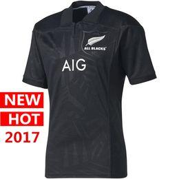 Wholesale Flashing Big - big size 4xl 5xl Newest New Zealand All Black Welsh holden nswrl t Shirt 2017 Maori All Blacks jerseys QLD Maroons Rugby jersey