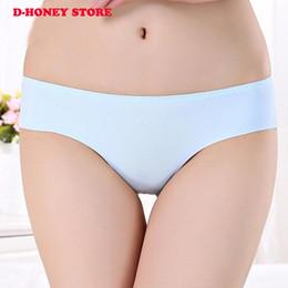 Wholesale Girl Knickers Pants - Summer Sexy Women Meryl Invisible Panties Lingerie Girls Cute Mid Waist Seamless Briefs Bragas Pants Underwear Knickers