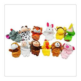 animali zodiacali cinesi Sconti Zodiaco cinese animale dito marionette Morbido peluche dito giocattoli per bambini (set di 12) giocattoli animali dito giocattoli educativi per i bambini regalo