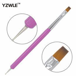 Wholesale Nail Polish Promotions - Wholesale- YZWLE 1 Pc New Arrival Promotion Nail Art Pen Painting Dotting Acrylic UV Gel Polish Nail Brush Liners Tool 10-11