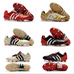 Wholesale Soccer Shoes Predator - 2017 Wholesale Adidas Predator Mania ACE 17+ Purecontrol Champagne FG Soccer Boots Football Boots White Core Mens Cleats Shoes Size 39-46
