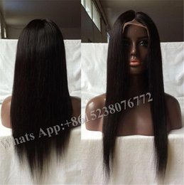 Wholesale Lace Wigs America - Brazilian front Lace Human Hair Wigs With babyhair For Black Women tangle free adjustable straps Human Hair Wigs Silky Straight america USA