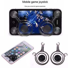 Wholesale Mobile joystick Mini Tactile Game Controller for any Touch Screen Device iPhone iPad Android cellphone roker sucker