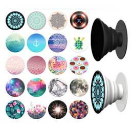 Wholesale Standing Universal Socket - 123 Designs Universal PopSockets Expanding Stand Grip for iphone 7 plus Smartphones Tablets Flexible Holders pop socket mounts ring