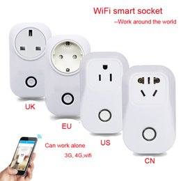 Wholesale Power Plug Timer - Wholesale-Newest smart switch EU US UK Smart Home Socket timer Wireless WiFi Remote Control Plug Power Supply IOS Android,memory function