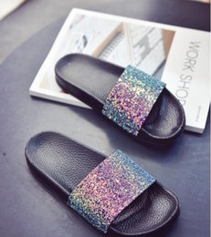 Wholesale Girls Silver Heels - 2017 New Woman Women Girl Summer Sandals Rihanna x FENTY x Jelly Slides Glod Black Sliver