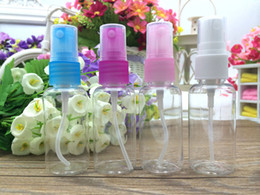 Wholesale Plastic Bottle Screen Printing - Travel size 30ml airless pump bottle cosmetic plastic spray bottles Clear PET Refillable perfume bottles in stock