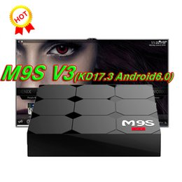 Wholesale V3 Tv - 2018 M9S V3 V5 Android TV Boxes Rockchip RK3229 Quad Core 4K wireless WIFI HDMI media player TV OTT set top box Media player