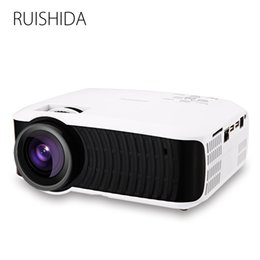 Wholesale Bluetooth Spdif - Wholesale-NEW RUISHIDA M3 Projector Support Wifi Miracast Airplay SPDIF SD USB RJ45 Android 4.4 3000Lumens Bluetooth 4.0 Proyector Beamer