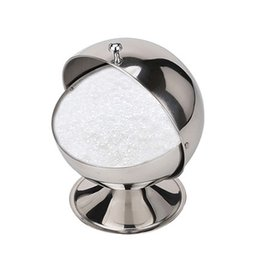 Wholesale Sugar Spice Pot - Wholesale- New High Capacity Ball Shape Sugar Bowl Salt Storage Pot Spice Jar Cooking Herbs Storage Bottles Kitchen Tools