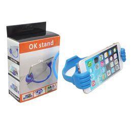 Универсальный держатель телефона OK стенд держатель для Sumsang S6 edge Smart Phone holder розничная упаковка от Поставщики держатель подставки