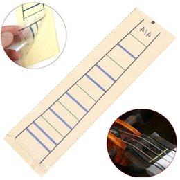 touche de violon Promotion Gros-Accessoires de violon Violon Fretboard Autocollant Ruban Fiddle Fingerboard Chart Finger Marker Pour 4/4 1 PC