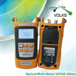 Wholesale Visual Source - Wholesale- 2 IN 1 Fiber Optic Power meter with 10km Laser source Visual Fault locator VD708-10mw
