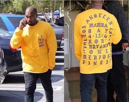 Wholesale Yeezus Shirt L - Yeezus T-Shirt I Feel Like Kobe T Shirt Men Kobe Retire Commemorative Mamba T-Shirt Yeezus Hip Hop Sport Tees Tops Kanye West