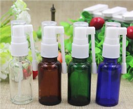 Wholesale Nose Cap For Bottles - 20ml Cosmetics and Body Lotion Pump Sprayer Mist Nose Medicine Nasal Bottle Roration Cap for Refillable Empty Mini Bottles