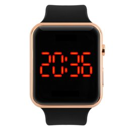 Wholesale Led Running Display - 2017freeshipping display Running Sport Watches For Men Silicone LED Digital Electronic watch women Waterproof Wristwatch Male Clock