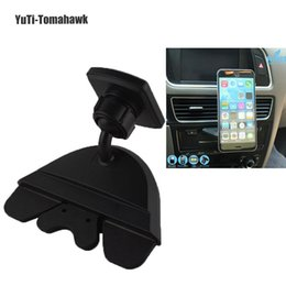 Wholesale Apple Iphone4s - Wholesale- Hot Sales Magnetic Car CD Mount Universal Holder For iphone4S 5S 6S 7 plus Galaxy Note5 S5 s6   GPS & PAD Stand Whloesale