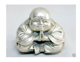 Wholesale Antique Collectible Figurines - Wholesale Cheap Chinese tibet silver carved happy buddha figurine