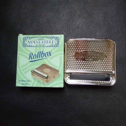 Wholesale Roll Steel Machine - Automatic Tobacco Roller Box Cigarette Roll Rolling Machine Stainless Steel Case Metal box size 92*82*20mm with retail box fashion