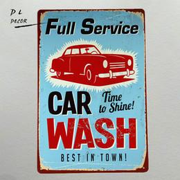 Wholesale Car Wall Plaque - DL-FULL SERVICE CAR WASH USA Metal Poster Bar PubTavern Wall Decor Sign Tin Plaque
