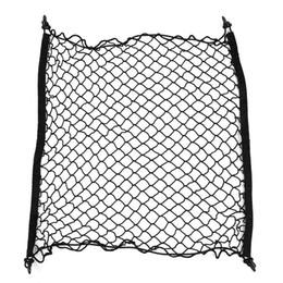 2019 malla de nylon Car Boot String Bag Elástico Nylon 70 * 70 cm Coche Trasero Carga Tronco Malla Organizador de Almacenamiento Net SUV Auto Accesorios Car Styling malla de nylon baratos