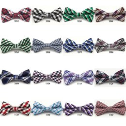 Wholesale Korean Fashion For Boys - 2017 Children Bow Ties collar baby Korean version of the boys ties fashion lattice Stripes Paisley Floral Polka Dots Check Holiday for party