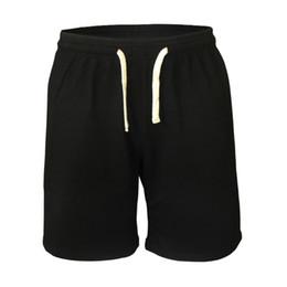 Wholesale Plus Size Workout Clothing - Wholesale- Casual cotton shorts men bodybuilding Drawstring Shorts 5 Inseam pure fitness short men brand clothing workout male size M L XL