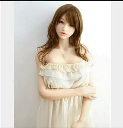 Wholesale Sexy Silicone Love Doll Sex - Hot sell Men's Sexy Realistic full Solid Silicone Love doll Sex dolls,Male Sex Toys real sex doll and gripping hands