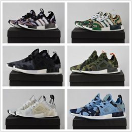 Wholesale Shoe Lace Socks - 2017 With Box Adidas Originals NMD XR1 Discount Cheap Duck Camo X City Sock Pk Wool Boost for Top Quality Fashion Running Shoes Size 36-45