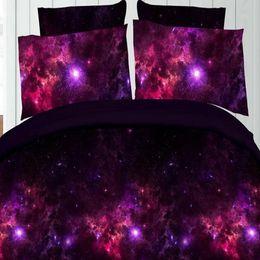 Wholesale Piece Bedding - 3D Comforter Sets Galaxy Fantasy Universe Personality Fashion Creative 3D Bedding Sets Four Piece Printing Bedding Sets Wholesale