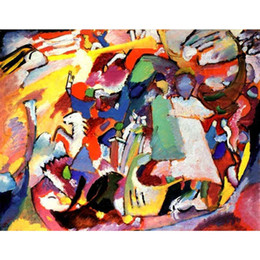 Wholesale Canvas Scrolls - Hand painted wall picture Wassily Kandinsky paintings All Saints Day l modern Canvas art hand-painted