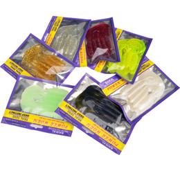 Wholesale Bait Salt - Fishing Soft Lure Bait 10cm Single Tail Grub 5 Pieces Bag Bighead Fish Fresh&Salt Water Catch