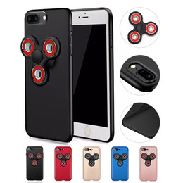 Wholesale Iphone Case Box For Sale - Factory Sale For iphone 7 plus Hand Spinner Fidget cell phone case 2 in 1 Back Case Cover Shell Cases With Retail Box